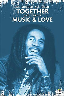 Bob Marley - Music and Love - New Licensed Reggae Maxi Poster - 91.5cm x 61cm