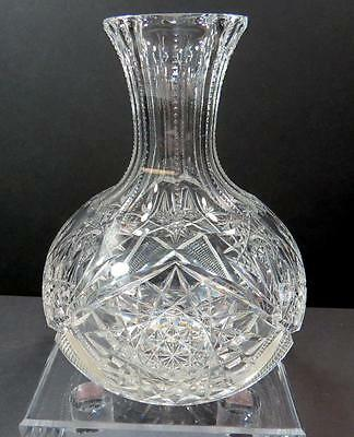 "Bohemian Czech Brilliant Cut Crystal Hobstar And Fan 7 3/4"" Carafe"