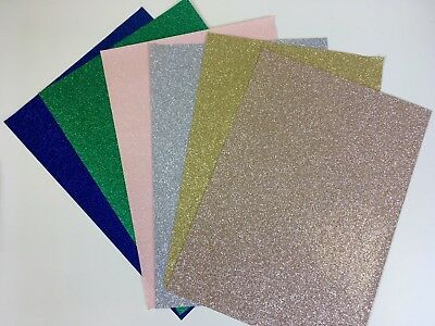 Glitter Paper - 10 x A4 sheets of Glitter 150gsm Paper with smooth white backing
