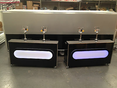 colour changing Cocktail Bar for Mobile Bar hire functions hospitality home use