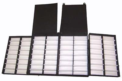 PORTABLE DISPLAY FOR SUNGLASSES holds 64 pair BRIEFCASE glasses holder carrier