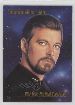 1993 SkyBox Master Series Star Trek #10 Commander William T Riker Card 1k3