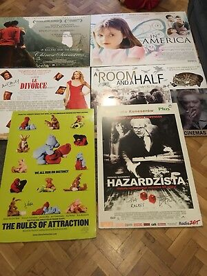 retro movie posters Job lot A3-A1 Signed