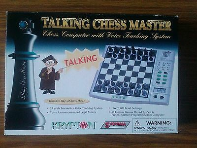 Krypton Talking Chess Master Computer With Voice Teaching System