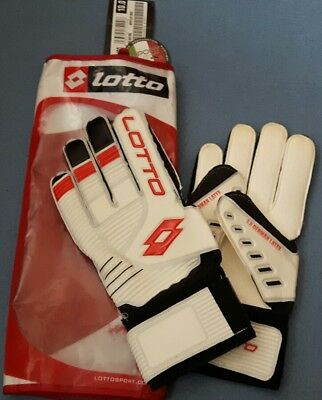 Lotto Gripster GK700 Goalkeeping Gloves Size 10 White/Red
