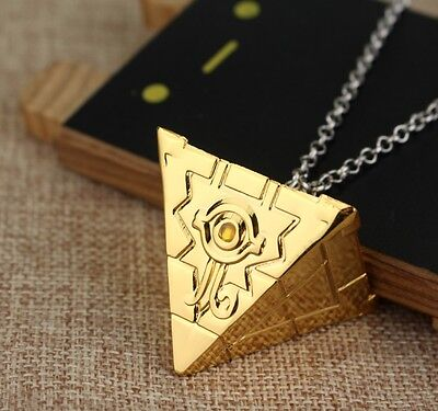 Yu-Gi-Oh Millenium Puzzle Seven Artifact Cosplay Metal Gold Pendant Necklace