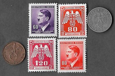 Rare Old WWII WW2 Nazi Germany Swastika Coin Stamp Hitler War SS Collection Lot