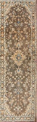 Excellent Floral Muted Color Runner 4x13 Malayer Hamedan Persian Oriental Rug