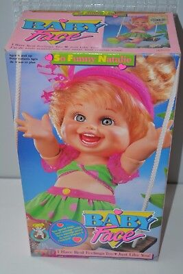 1990 Galoob Baby Face Poseable doll So Funny NATALIE MINT box MIB PERFECT HTF #5
