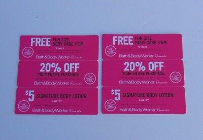 6 Bath and Body Works Coupons Fun Size, 20% Off & $5 Lotion 10-9 thur 10/29