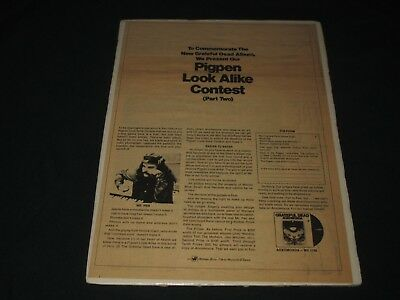 GRATEFUL DEAD-AOXOMOXOA-PIG PEN LOOK ALIKE CONTEST-1969 PRINT AD w/ ENTRY FORM