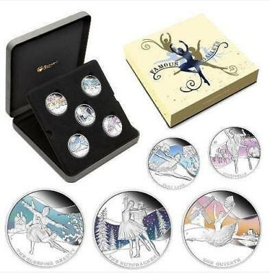 Tuvalu 2010 - 5 x $1 - Famous Ballets - 5 x 1oz LIMITED Silver Coin Set