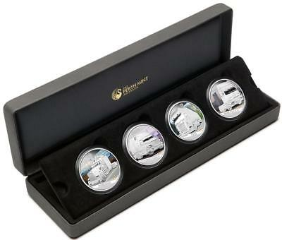 Tuvalu 2010 $1 Kings of the Road Heavy-Duty Trucks 4x 1 Oz Silver Proof Coin Set