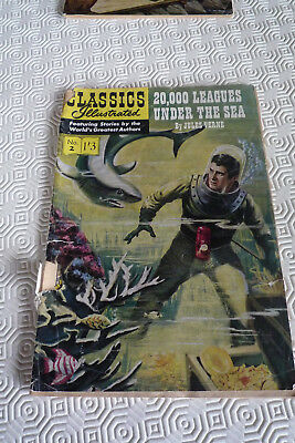 CLASSICS ILLUSTRATED No. 2  20,000 Leagues under the Sea Jules Verne 1/3  GD
