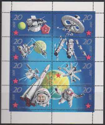 1971 East Germany Soviet Space Research set sheetlet MNH