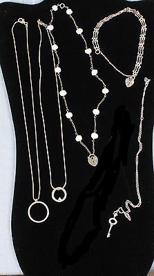 LOT Sterling Silver .925 Necklaces and Bracelet