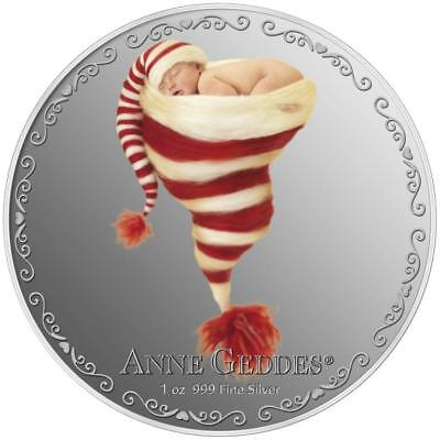 Niue 2014 $2 Anne Geddes - Heartfelt 1 Oz Silver Proof Coin