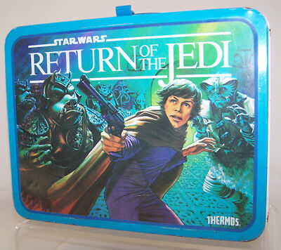1983 Star Wars RETURN OF THE JEDI Thermos Lunch Box ~ No Thermos