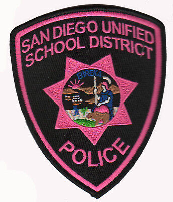San Diego Unified School District CA Police Pink Patch