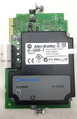 Allen-Bradley 20-COMM-E EtherNet/IP Adapter w/ 20-750-COMM Carrier Card