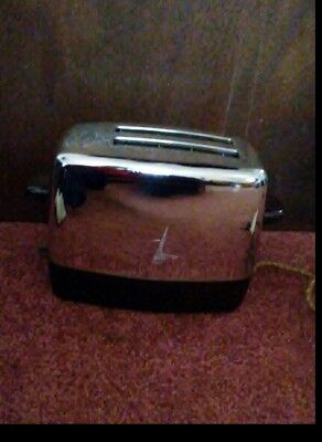 Antique Electric Toaster Chrome & Bakelite w Timer Works! by Imperial Dominion
