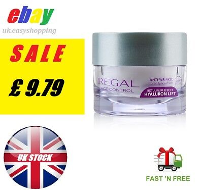 REGAL ANTI WRINKLE Age Control Collagen NIGHT CREAM HYALURON LIFT UK STOCK