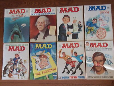 Mad magazine lot, complete 1976 issues 180-186 VG/FN condition.