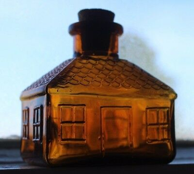 Amber House Ink Bottle Figural Shape I Don't Think It's A Repro; LOOK No Damage