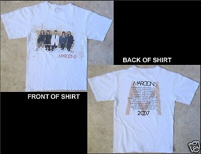 MAROON 5 2007 Size Small White T-Shirt