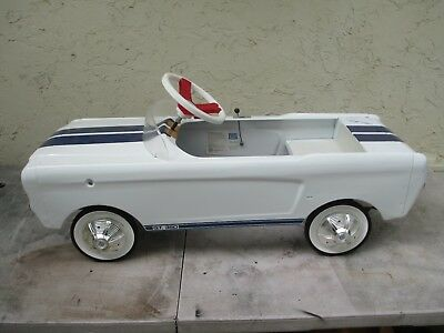 1965 MUSTANG SHELBY Pedal Car MADE FOR FORD- CAROL SHELBY name on rear deck