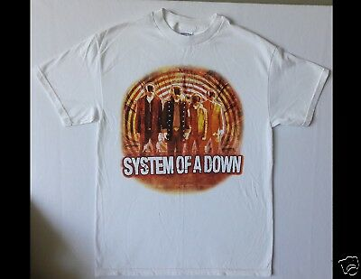 SYSTEM OF A DOWN North American Tour 2005 Size Medium White T-Shirt