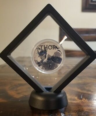 Marvel Comics Thor 1 oz .999 Silver Coin  $1 2018 Tuvalu Super Hero w/ Frame NEW