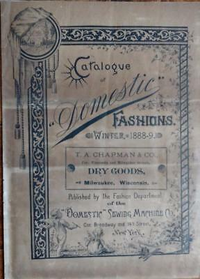 RARE 1888 Domestic Winter Fashions Catalog Domestic Sewing Machine Co. New York