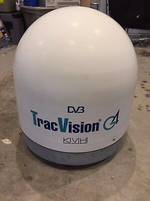 KVH Tracvision 4 with new power and data cables