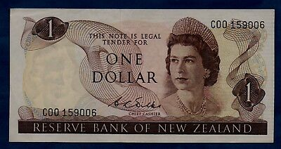 New Zealand Banknote 1 Dollar 1968/1975  VF+