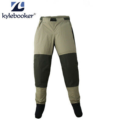 KyleBooker Fly Fishing Waders Pants Stocking Foot Weatherproof Wading Trousers