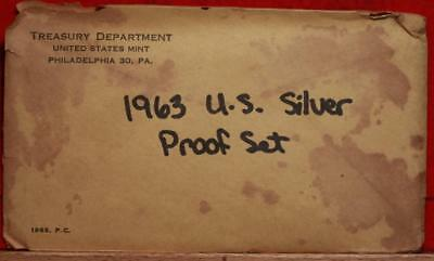 Uncirculated 1963 United States Silver Proof Set Free S/H!