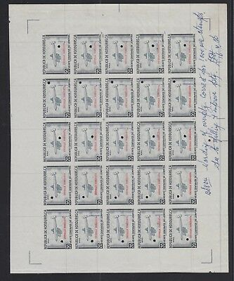 Honduras 1956 Sc #ce2 Progressive Plate Proofs Of Special Delivery Airmails