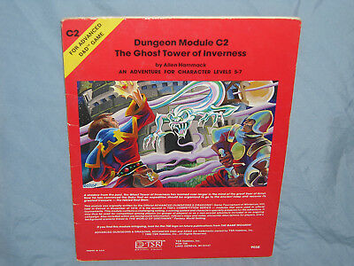 AD&D 1st Ed Module C2 THE GHOST TOWER OF INVERNESS (Hard to Find & Complete!!)