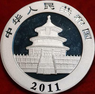 Uncirculated 2011 China 10 Yuan 1 oz Silver Panda Foreign Coin Free S/H