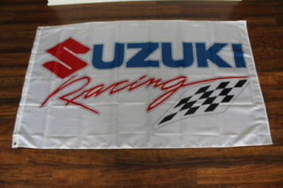 Suziki Racing Riders Motorcycle Banner Flag 3X5ft Checkered Bike Motorsports
