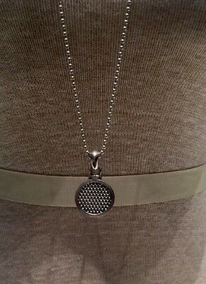Lagos Silver Circle Necklace On Ball Chain Necklace!