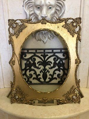 Gorgeous ANTIQUE 19TH CENTURY OVAL FRENCH 2ND EMPIRE STYLE GOLD GILT FRAME