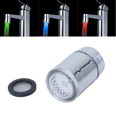 Tri-color LED Temperature Sensor Spray Faucet Water Tap PK L7N8