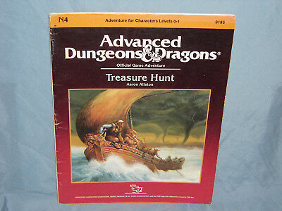 Advanced Dungeons & Dragons 1st Ed Module N4 TREASURE HUNT (Hard to Find -RARE!)
