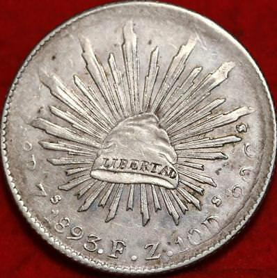1893 Mexico 8 Reales Silver Foregin Coin Free S/H