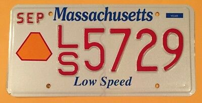 Massachusetts Low Speed Specialty License Plate #ls•5729