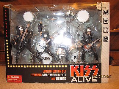 "McFarlane Toys KISS ALIVE Deluxe Boxed Set Action Figures ""HTF"""