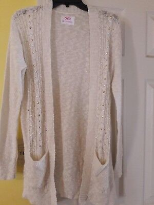 New Justice size 20 Girls Sweater Cardigan