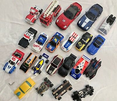 21PC Vintage Slot Car LOT Tyco AFX Racing HO Porsche Corvette